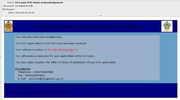 Kvittering for ansøgning