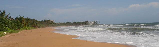 Stranden ved Bentota